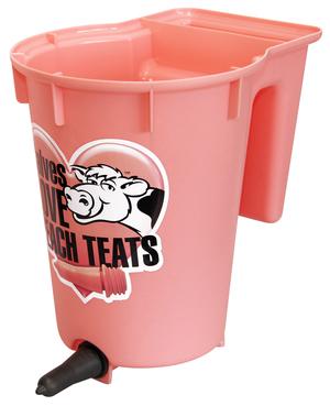 Peach Teat Single Calf Feeder