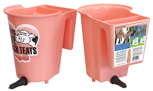 Peach Teat Reversible Single Calf Feeder