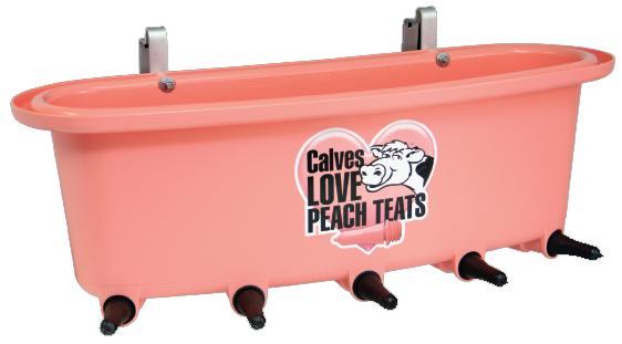 Peach Teat® 5-calf open feeder